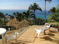 living and dining room terrace balcony view of banderas bay