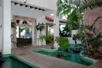 Atrium of puerto vallarta vacation villa Karma