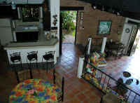 casa Owaissa kitchen and living area