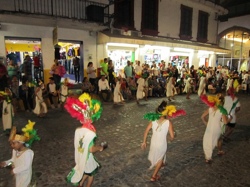 dancers at the Our Lady of Guadalupe celebrations every December in Vallarta