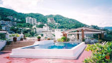rooftop pool  and sundeck at La Palapa in gay-friendly Puerto Vallarta, Mexico