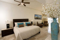 master suite with balcony and bay views