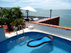 puerto vallarta penthouse condo dipping pool and views