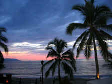 puerto vallarta sunset in tropical gay friendly mexico