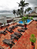 main sundeck terrace and heating pool, beachfront in PV Mexico