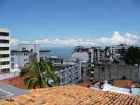 puerto vallarta condo building el almendro rooftop pool and views