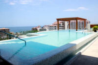 panoramic views of vallarta and old town from the pool rooftop terrace