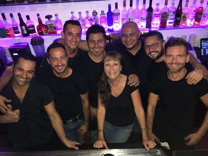 December 2016 the Swedes bar bistro staff in gay friendly puerto vallarta mexico