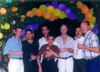 Osiel, Michael, Jaime, Chuey and Howard and friends at the Torre malibu party ages ago