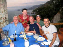 puerto vallarta le kliff restaurant - michael bottrill and friends