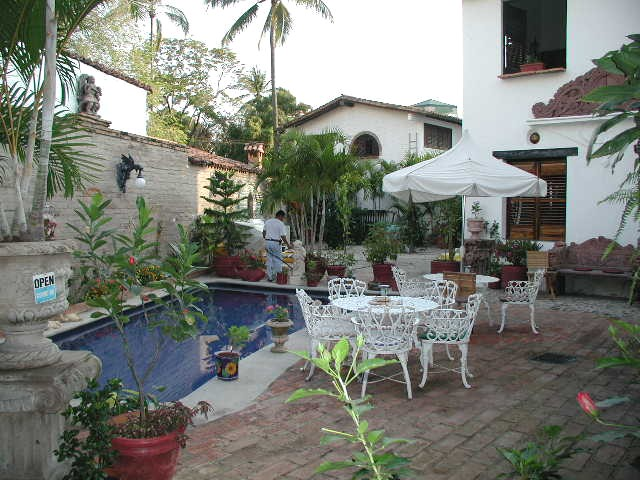Casa fantasia puerto vallarta bed and breakfast terrace pool plants