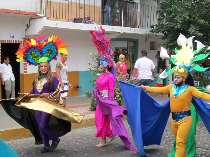 photo of the puerto vallarta gay pride parade and festivities
