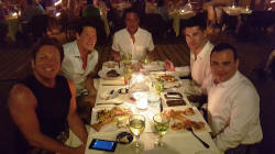 mark schwab and friends - La Palapa restaurant and dining on Los Muertos beach - thanks to MSB