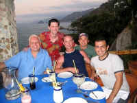 michael bottrill and friends at le Kliff restaurant Vallarta '04