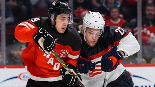 world junior hockey USA versus Canada