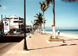 the malecon puerto vallarta downtown - picture by william clark