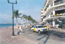 puerto vallarta malecon boardwalk and city downtown