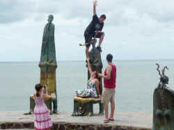 sculptures on malecon boardwalk by alejandro colunga - Rotunda of the Sea