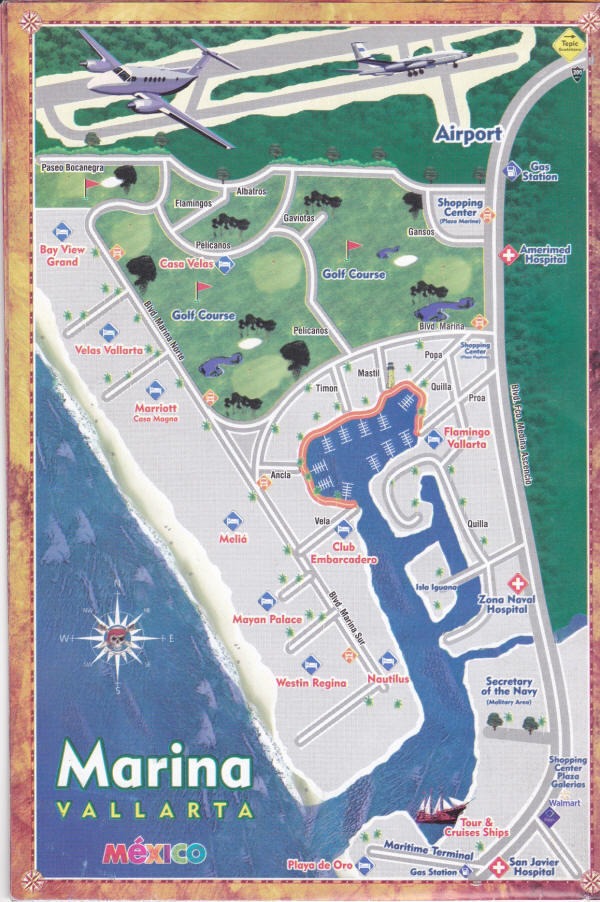 the Marina in Vallarta - a Map