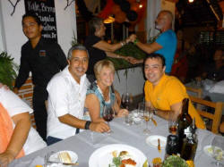 Michel restaurant 6th year anniversary festivities with Alfonso and Roberto