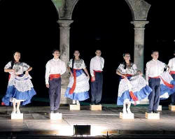 Xiutla folkloric ballet dancers downtown at los arcos amphitheater