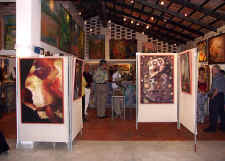 opening scene at puerto vallarta art gallery Dante