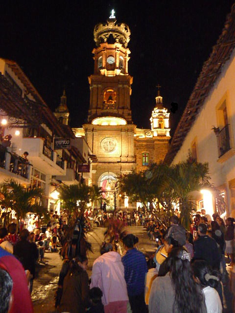 puerto vallarta our lady of guadalupe church during Dec celebrations