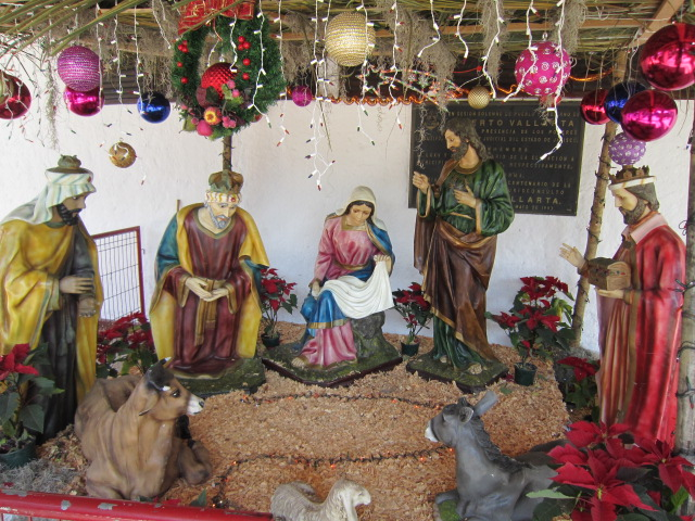manger scene in downtown Vallarta