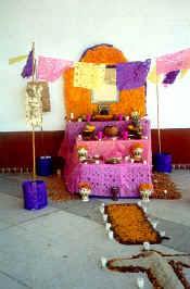 day of dead altar to Mexico poet and intellectual octavio paz