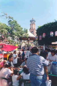 puerto vallarta downtown Zocalo plaza during a festival
