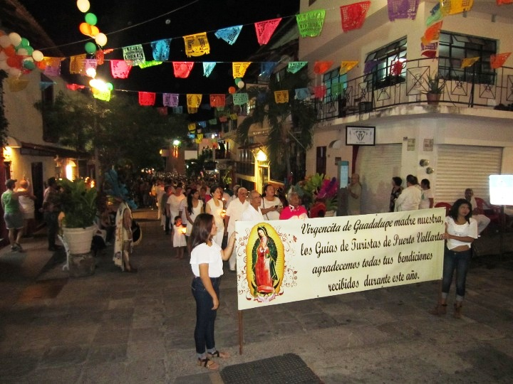 procession during the annual Virgin of Guadalupe celebrations
