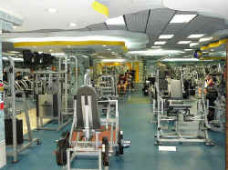 golds gym interior