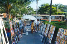 puerto vallarta malecon art downtown artists and watercolors