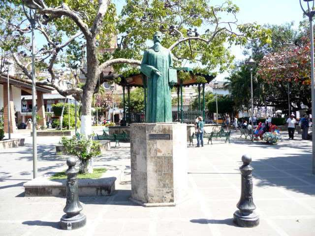 in downtown puerto vallarta the main plaza