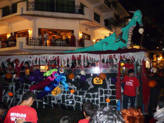 puerto vallarta festivities Halloween downtown 2010