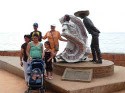 puerto vallarta sculpture to xiutla folk dancers by Jim Demetro 2006
