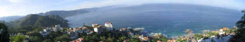puerto vallarta panoramic view from conchas chinas hillside